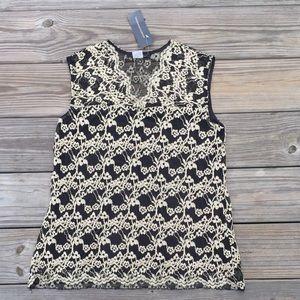 Jennie & Marlis black and gold lace blouse
